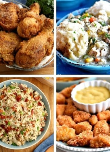 photo collage of gluten-free chicken recipes