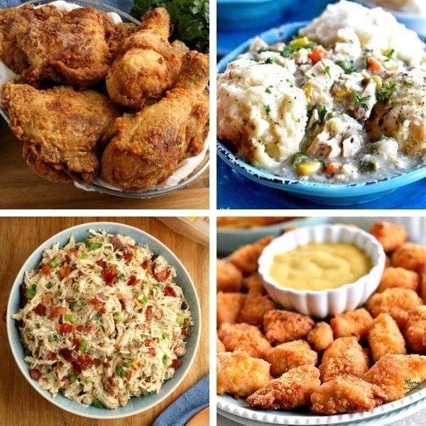 photo collage of gluten-free chicken recipes