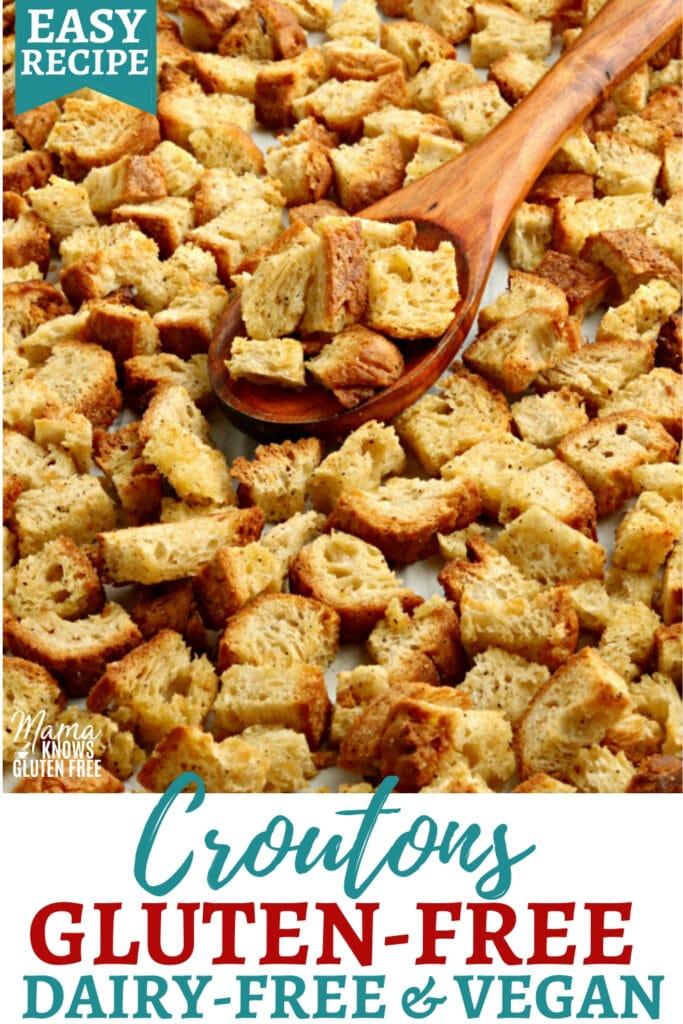gluten-free croutons Pinterest pin1