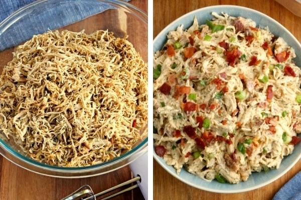 gluten-free shredded chicken recipes photo collage
