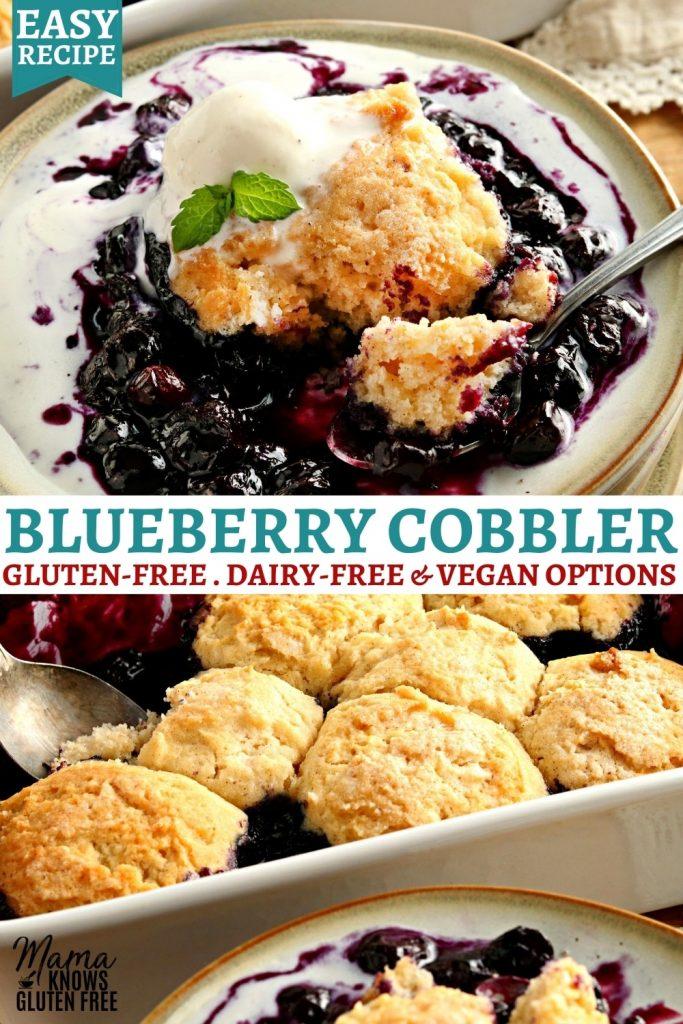 gluten-free blueberry cobbler Pinterest pin 2a
