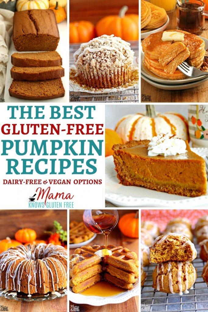 gluten-free pumpkin recipes Pinterest pin 1