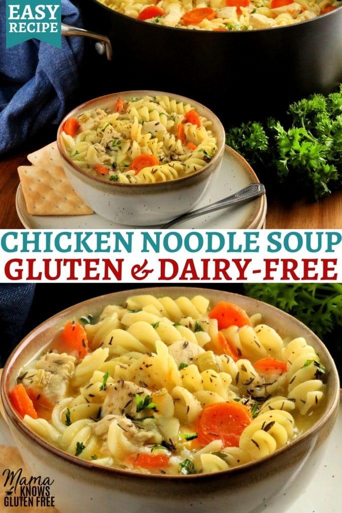 gluten-free chicken noodle Pinterest pin 2a