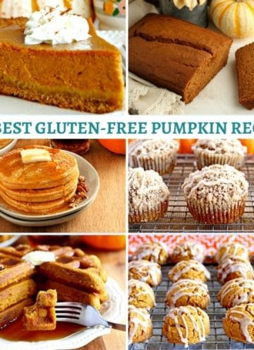 gluten-free pumpkin recipes photo collage