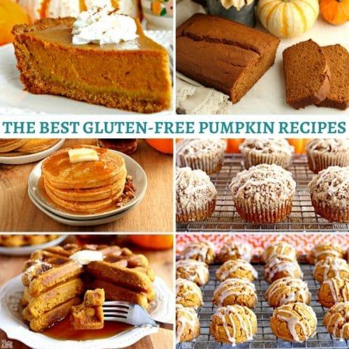 gluten-free pumpkin recipes photo collage
