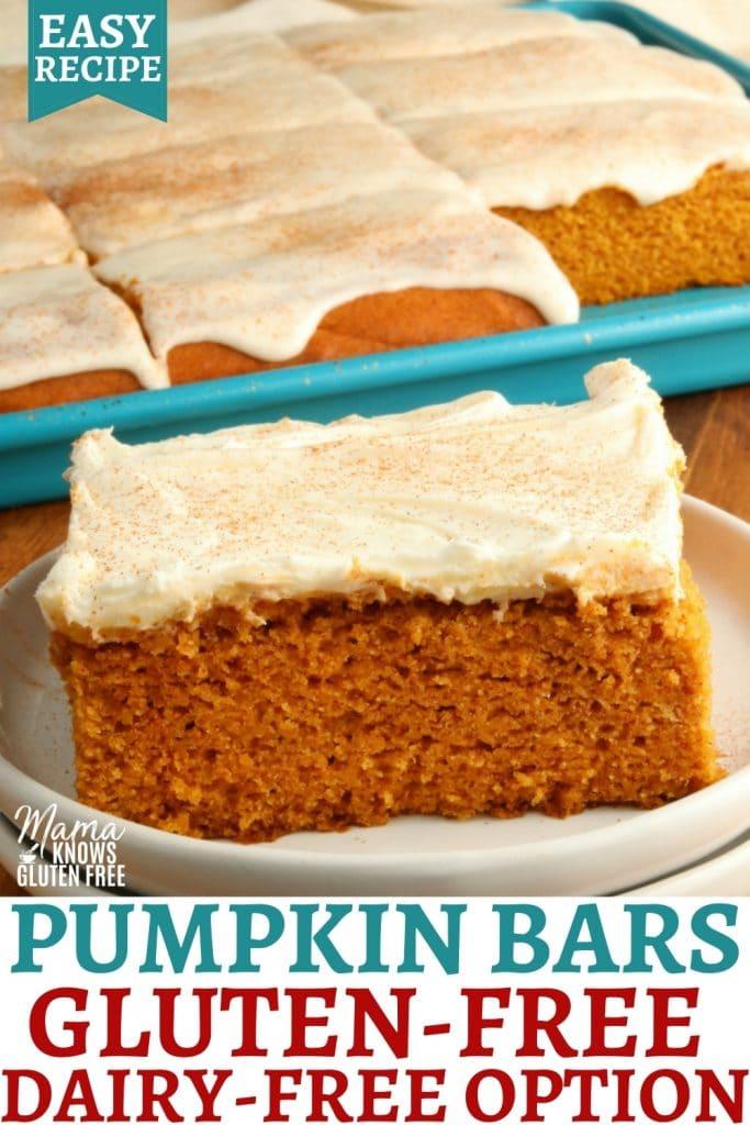 gluten-free pumpkin bars Pinterest bars