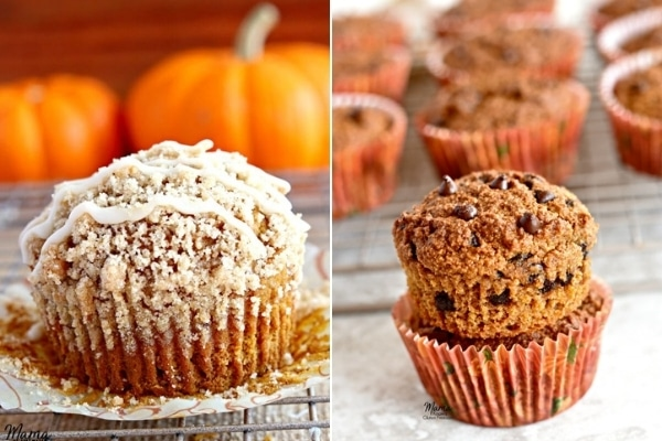 gluten-free pumpkin muffins photo collage