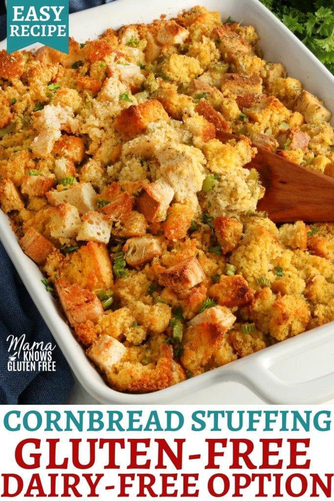 gluten-free cornbread Pinterest pin 1