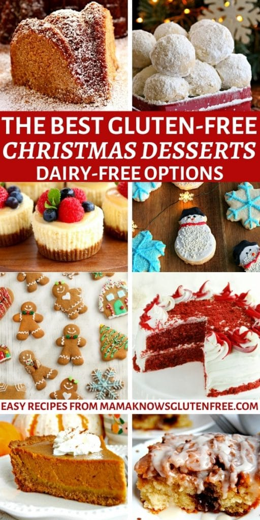 the best gluten-free Christmas desserts Pinterest pin