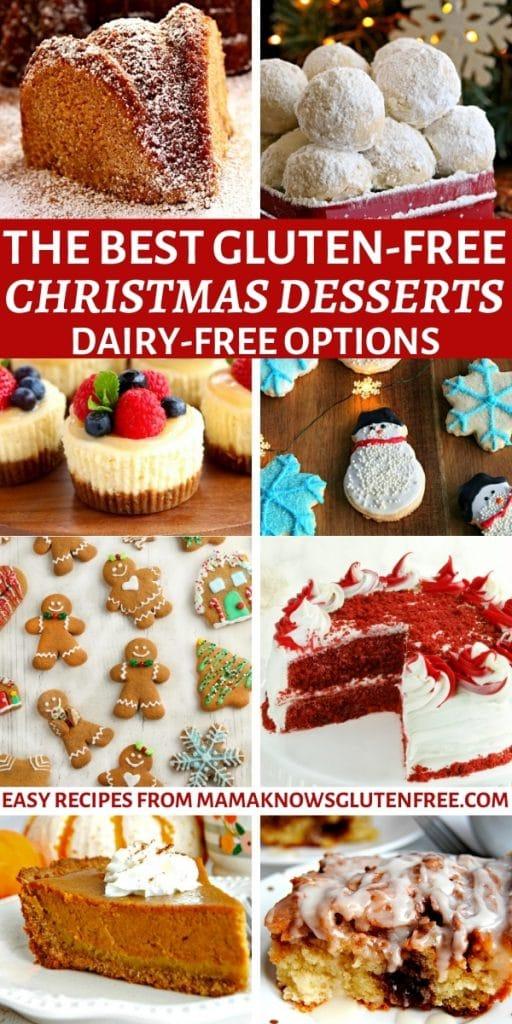 the best gluten-free Christmas desserts Pinterest pin
