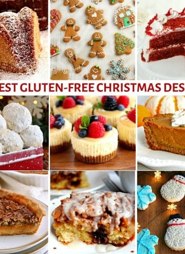 gluten-free Christmas desserts photo collage