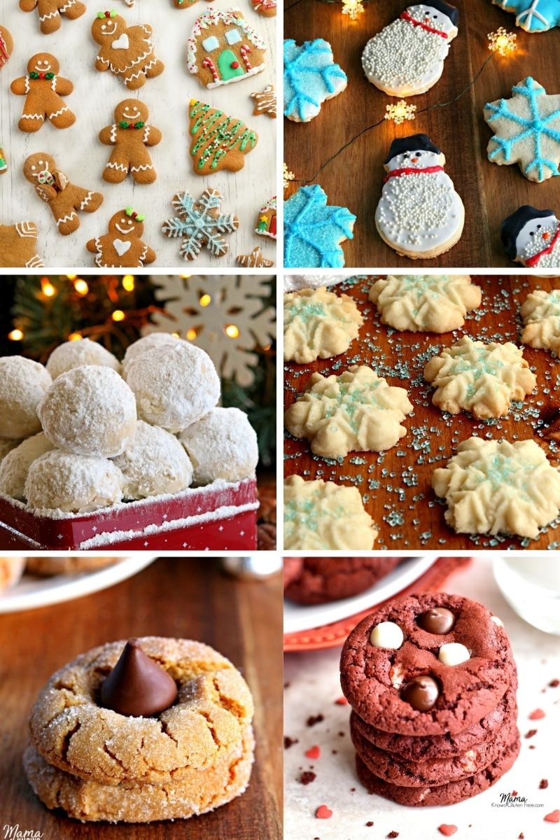 gluten-free Christmas cookies photo collage