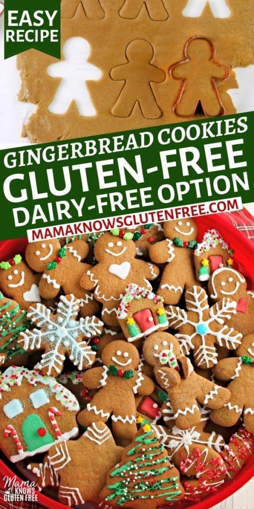 gluten-free gingerbread cookies Pinterest pin n2