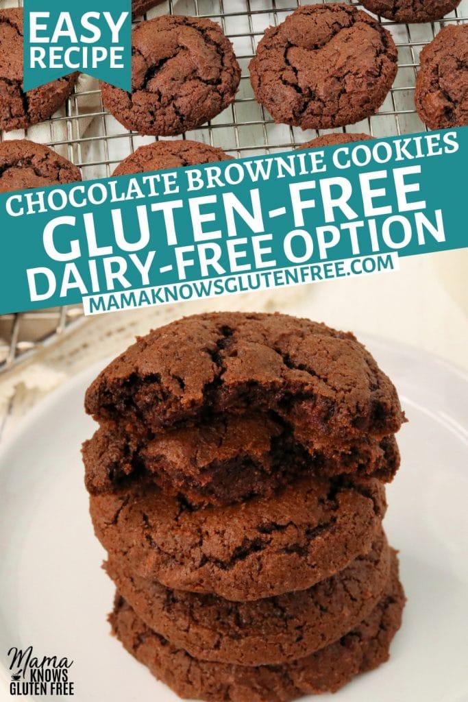 gluten-free chocolate cookies Pinterest pin