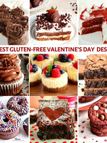 gluten-free Valentine's Day dessert recipes photo collage