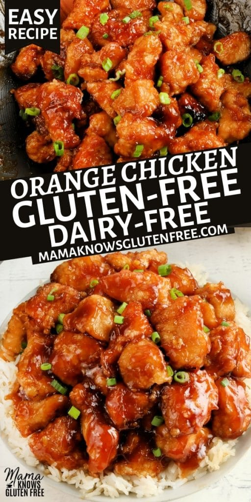 gluten-free orange chicken Pinterest pin 1n