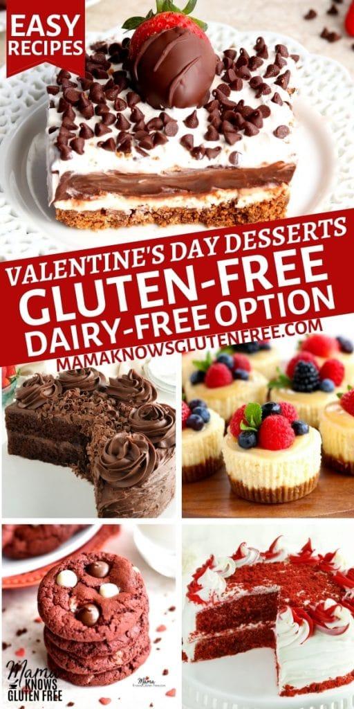 gluten-free Valentine's Day dessert recipes Pinterest pin