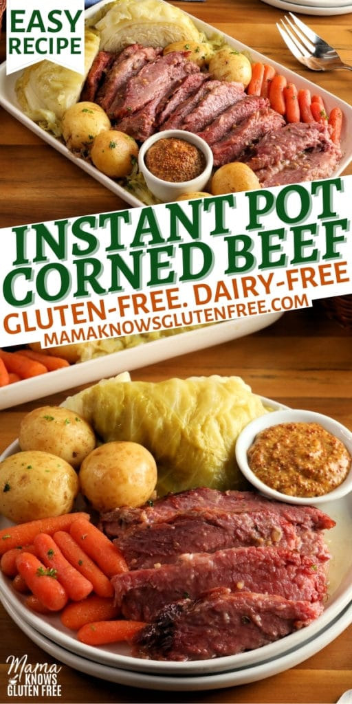 Instant Pot Corned Beef and Cabbage Pinterest pin 1n