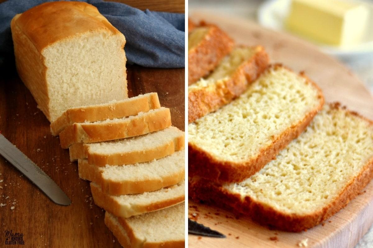 gluten-free bread recipes collage