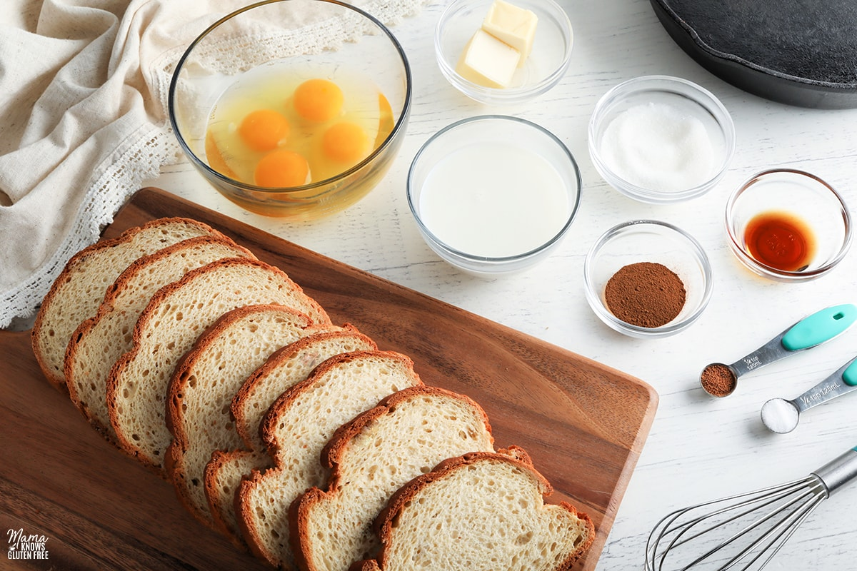 gluten-free French Toast recipe ingredients