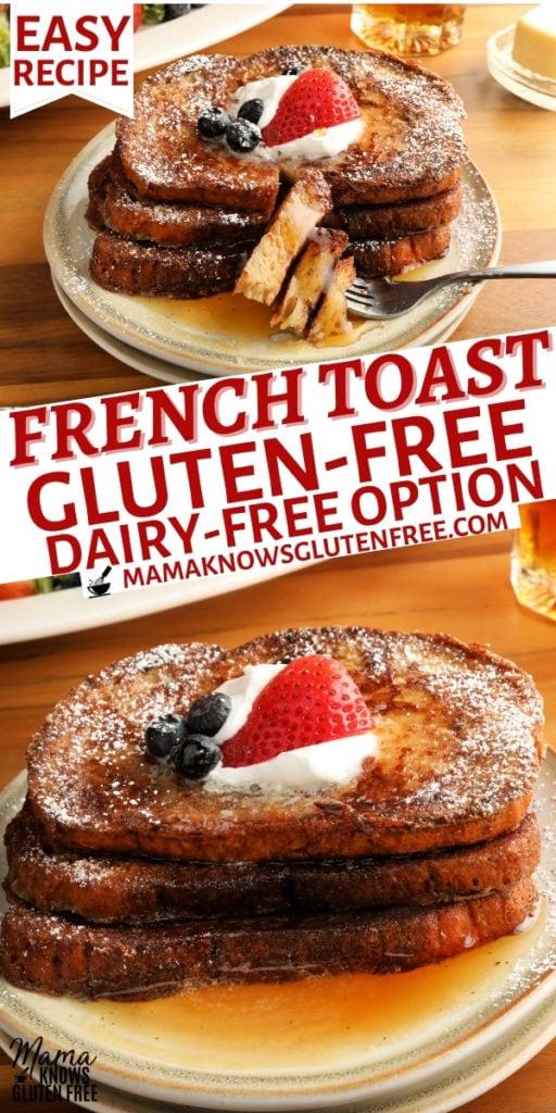 gluten-free French Toast Pinterest pin 1n