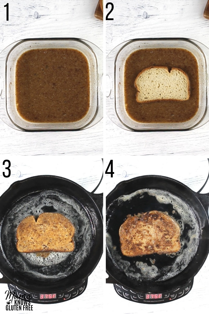 gluten-free French Toast recipe steps photo collage