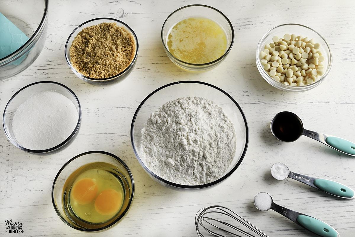 gluten-free blondies recipe ingredients