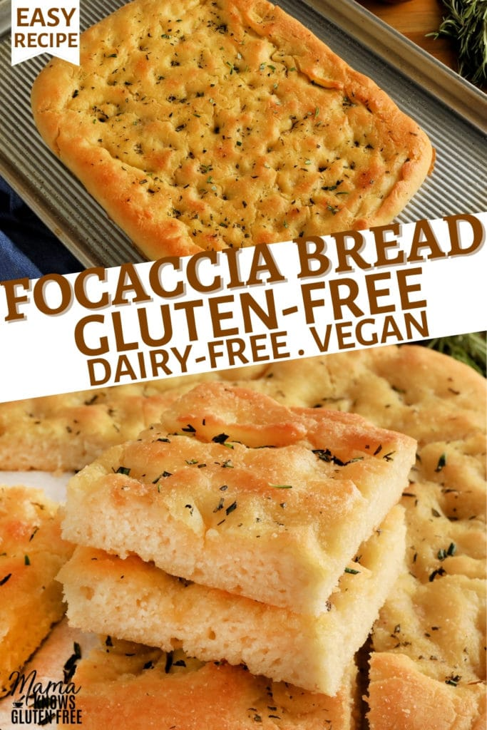 gluten-free focaccia bread Pinterest pin 2