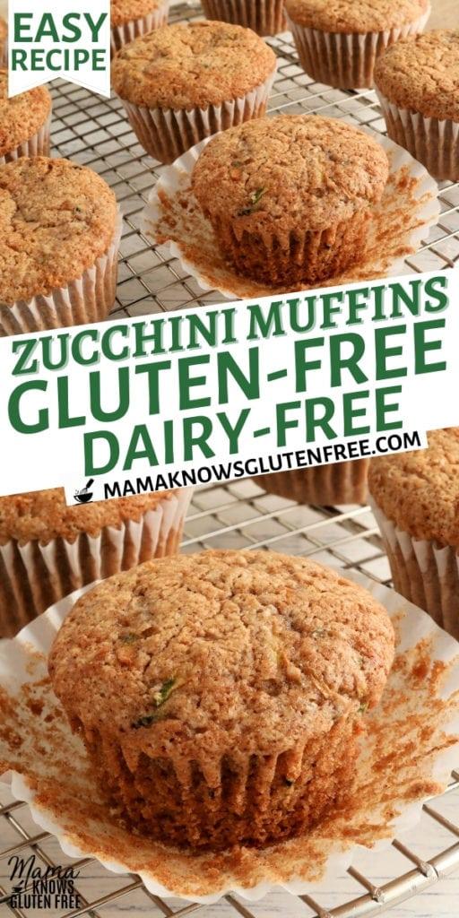 gluten-free zucchini muffins Pinterest pin 1n