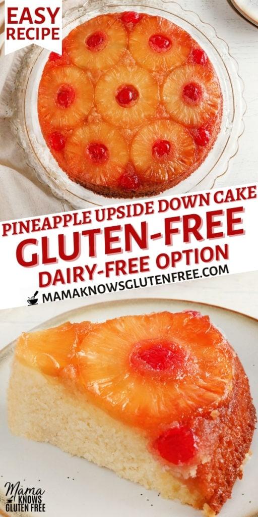gluten-free pineapple upside down cake Pinterest pin 1n
