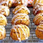 glutne-free pumpkin cookies on a cooling rack