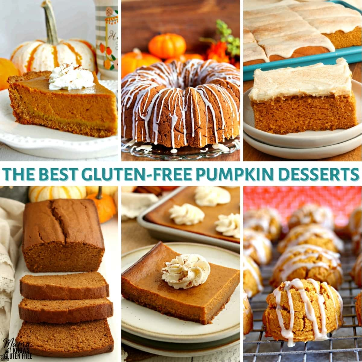 gluten-free pumpkin desserts recipe collage